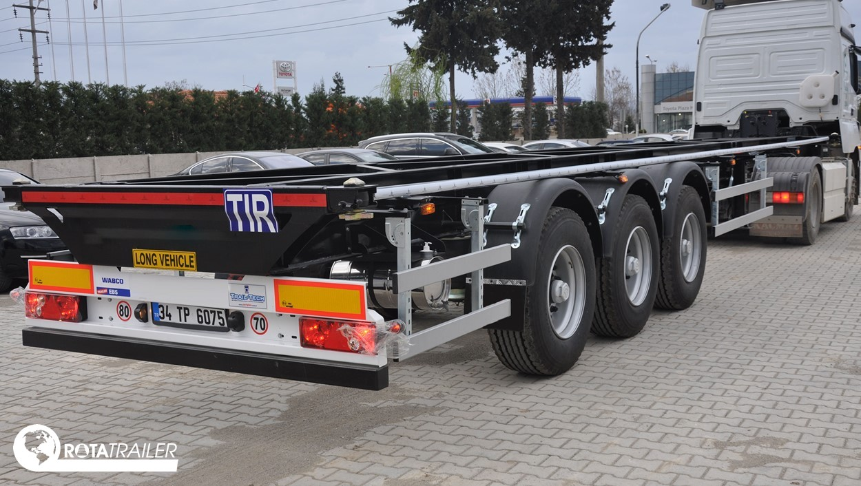 FLATBED CONTAINER CARRIER TRAILER